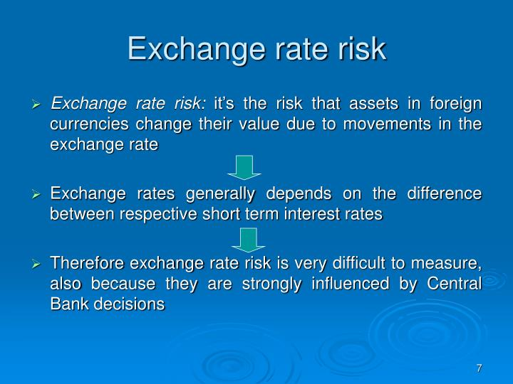 Exchange rate risk