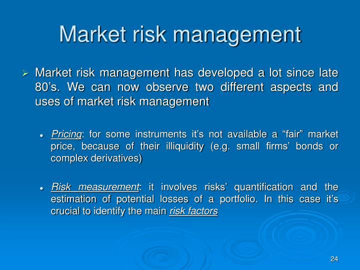 Market risk management