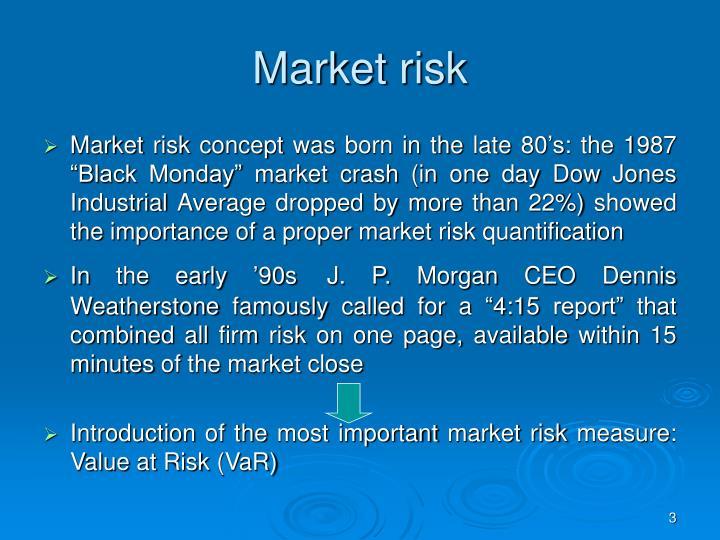 Market risk1