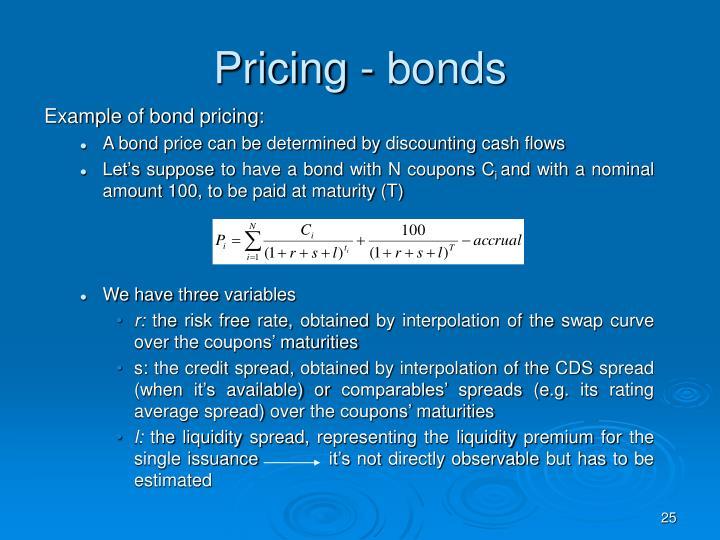 Pricing - bonds