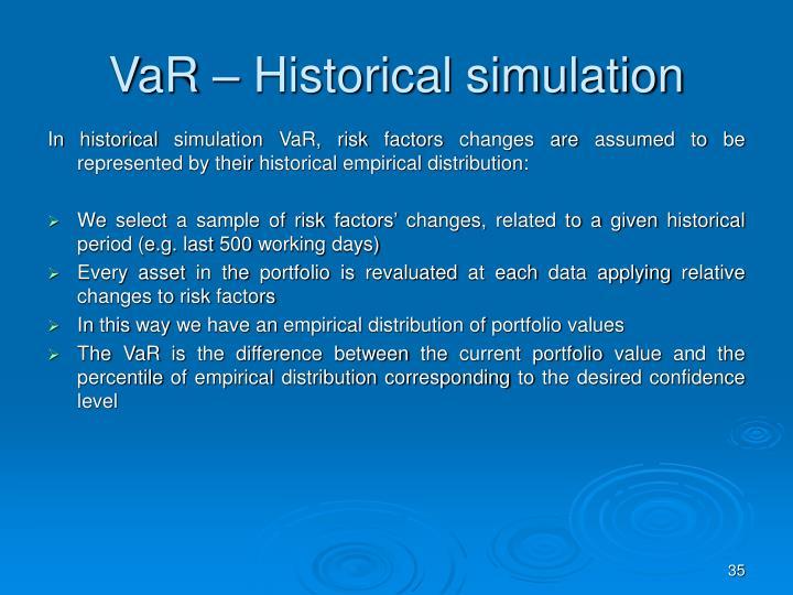 VaR – Historical simulation