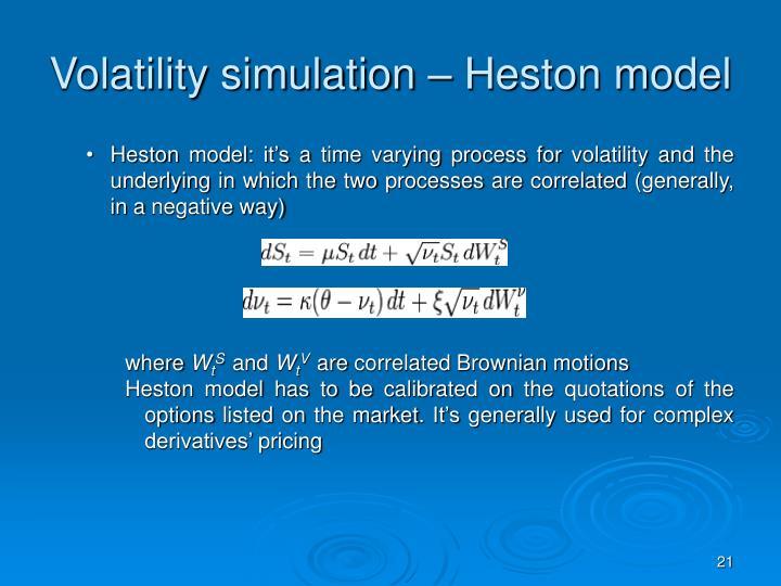 Volatility simulation – Heston model