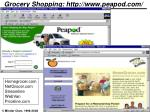 grocery shopping http www peapod com