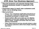 gyb grow your business approach