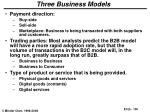 three business models
