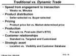 traditional vs dynamic trade