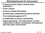 web experiences for consumers