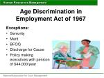 age discrimination in employment act of 19671