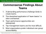 commonsense findings about teams
