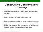 constructive confrontation i message