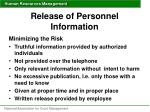 release of personnel information1