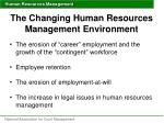 the changing human resources management environment1