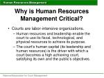 why is human resources management critical