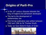 origins of parli pro