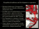 geopolitical traditions and development co operation3