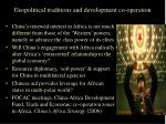geopolitical traditions and development co operation4