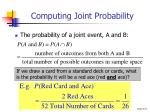 computing joint probability