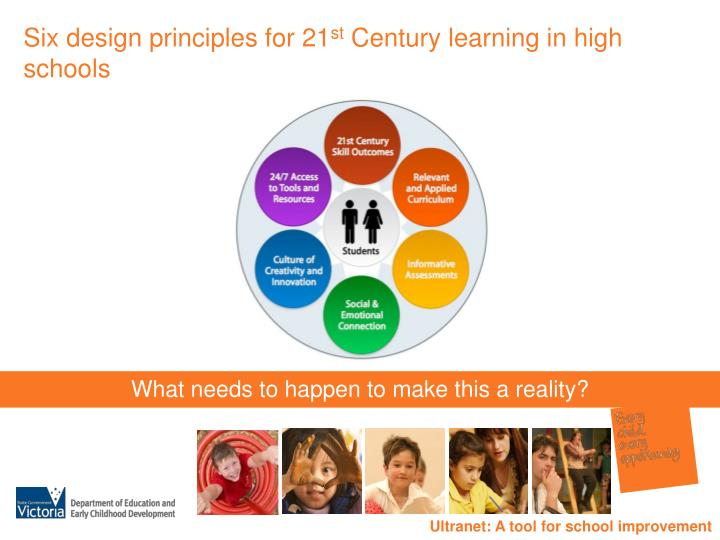 Six design principles for 21