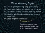 other warning signs4