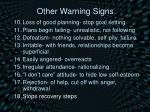 other warning signs8