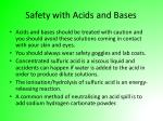 safety with acids and bases