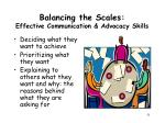 balancing the scales effective communication advocacy skills3