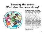 balancing the scales what does the research say