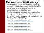 the neolithic 10 000 year ago