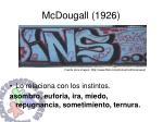 mcdougall 1926