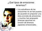 qu tipos de emociones tenemos