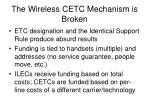 the wireless cetc mechanism is broken