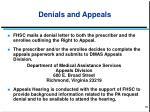 denials and appeals