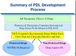 summary of pdl development process
