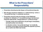 what is the prescribers responsibility