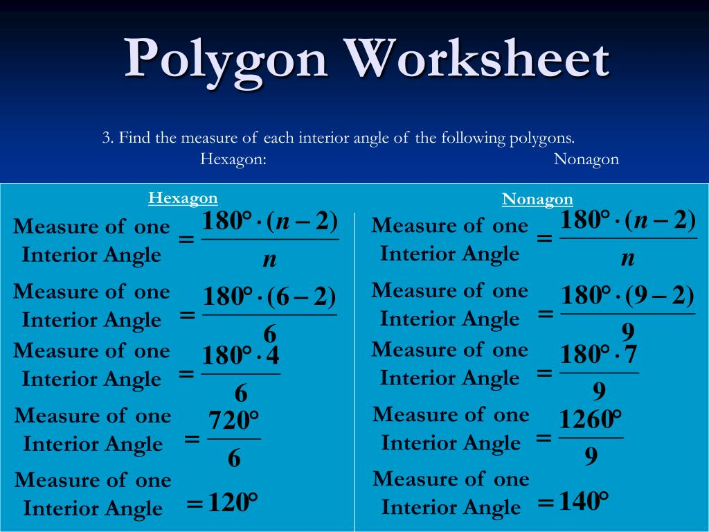 Ppt Polygon Worksheet Powerpoint Presentation Id 1010527