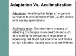 adaptation vs acclimatization