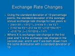exchange rate changes1