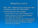waterford cont d