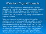 waterford crystal example