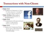 transactions with non clients