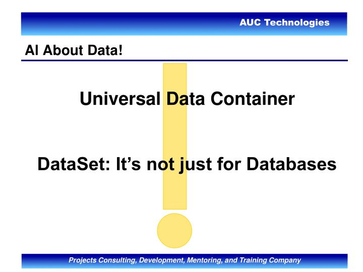 Al About Data!