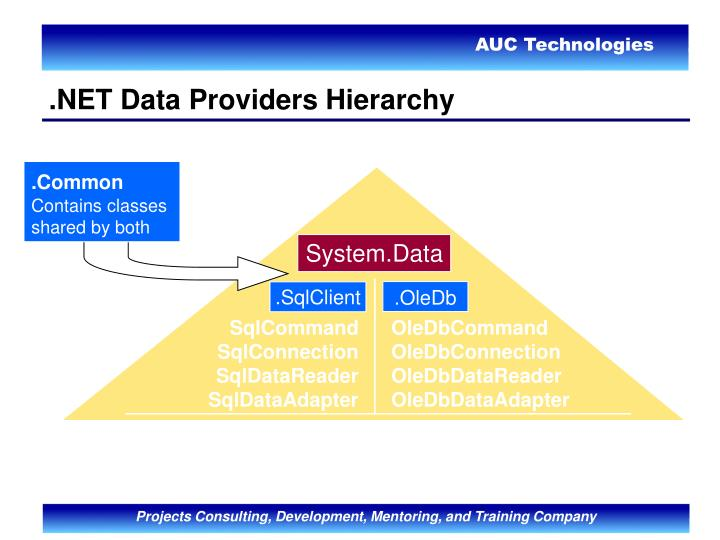.NET Data Providers Hierarchy