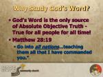 why study god s word2