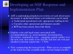 developing an nsf response and implementation plan1