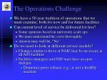 the operations challenge