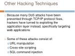 other hacking techniques