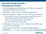 essential health benefits development history
