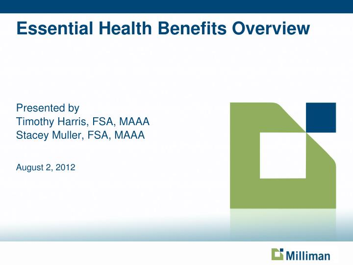 essential health benefits overview n.