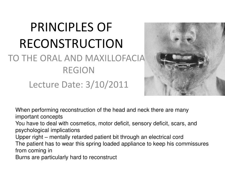 principles of reconstruction n.