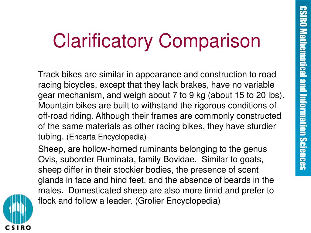 Clarificatory Comparison